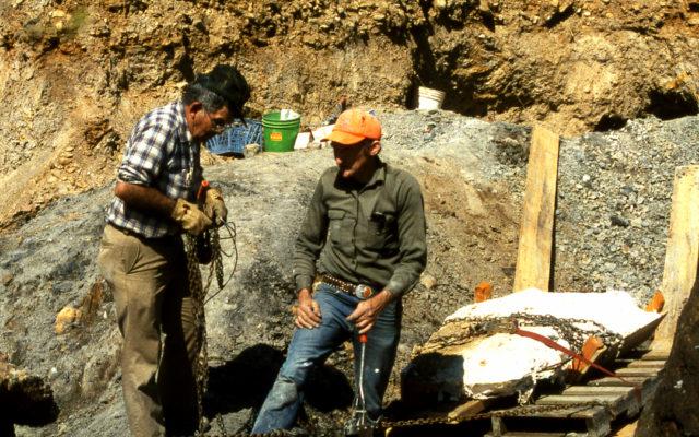 Workers excavating part of Acro.
