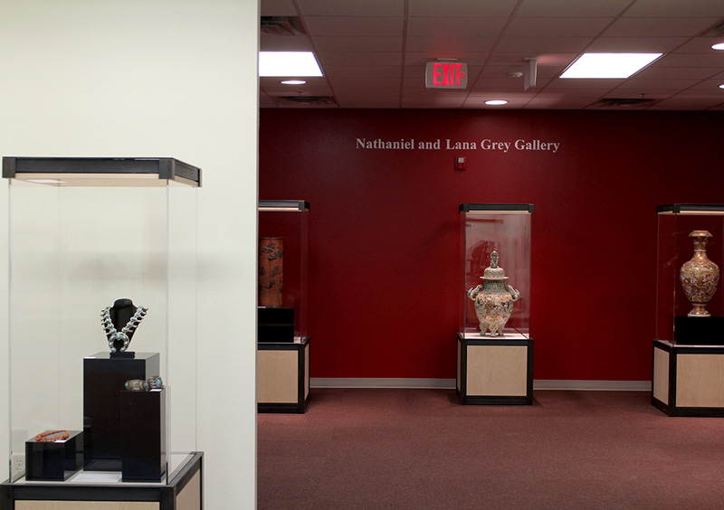 Nathaniel and Lana Grey Gallery with Japanese Export Ceramics on display