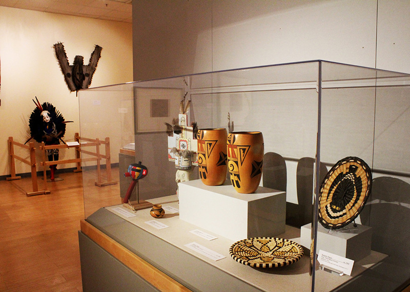 A display of artifacts from the American southwest